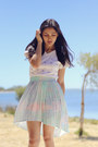 White-fifi-lapin-unlabelled-top-light-blue-chicnova-skirt
