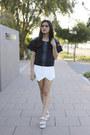 White-skort-missguided-shorts-black-neoprene-august-street-top