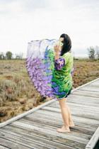 black shell Gillian Tennant dress - chartreuse silk maxi style moi cardigan
