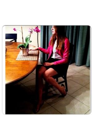 hot pink hot Candies jacket - black ruffle Candies skirt