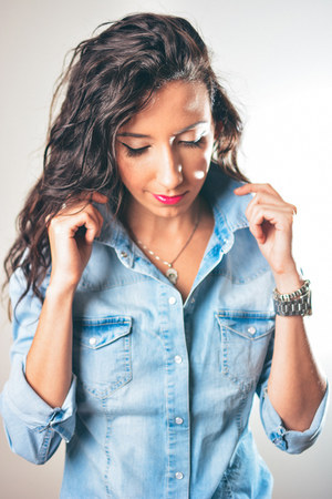 denim Zara shirt