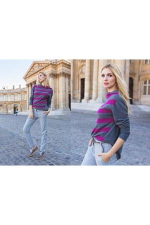 magenta LFDL laFABBRICAdelLINO sweater - silver LFDL laFABBRICAdelLINO pants
