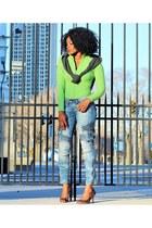 animal print le chateau shoes - green razzle dazzle sweater