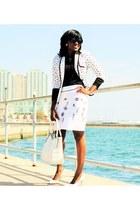 white polka dot Express blazer