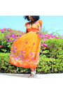 Carrot-orange-floral-print-jessica-taylor-dress
