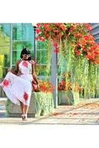red halter neck Rosegal dress