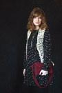 Off-white-crochet-vintage-vest-black-smock-asos-dress