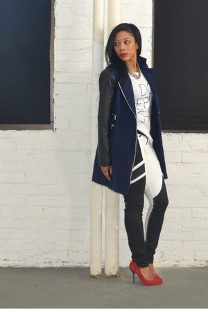 mixed media calvin klein coat - denim Express jeans
