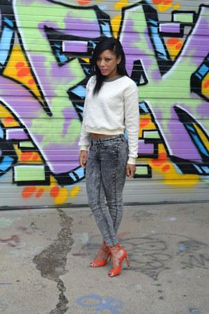heather gray denim H&M jeans