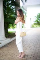 gold gold crossbody Chanel bag - white jumpsuit asos jumper