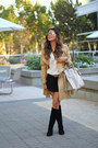 Tall-boots-nine-west-boots-trench-coat-h-m-coat-gray-prada-bag