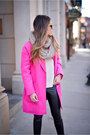 Hot-pink-hot-pink-boohoo-coat-black-faux-leather-topshop-leggings