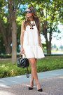 Black-suede-banana-republic-shoes-white-faux-leather-h-m-dress