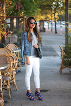 wool Zara sweater - white Zara jeans - denim Gap jacket - Chanel bag
