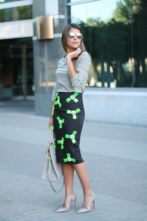 Prada bag - banana republic top - Christian Louboutin pumps - River Island skirt