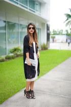 gray long cardigan Zara cardigan - white midi asos dress