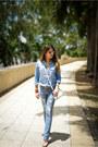 Light-blue-ripped-dstld-jeans-light-blue-chambray-j-crew-shirt
