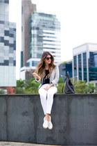 white espadrilles Chanel flats