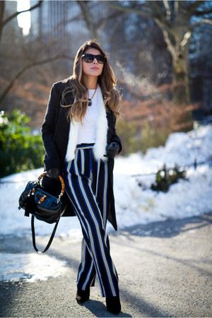 blue striped Topshop pants
