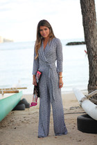 jumpsuit Nyc & company jumper - tribal asoscom bag - fucsia Steve Madden sandals