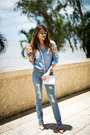 Light-blue-ripped-dstld-jeans-light-blue-chambray-j-crew-shirt
