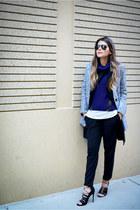 black lace up asos heels - gray gray Sheinside coat