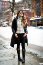 Black-hunter-boots-beige-striped-sheinside-sweater