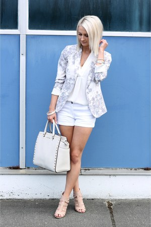 white PacSun shorts - floral print Forever 21 blazer