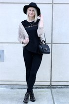 simply chic bag - black wool hat H&M hat - Zara shirt