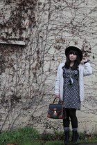 black Wasteland dress - white Urban Outfitters sweater - black Dooney & Bourke p