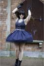 Black-charles-david-boots-black-vintage-dress-black-vintage-belt