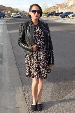 black JCP jacket - light brown Target dress