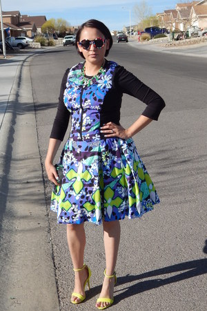 blue Peter Pilotto For Target dress - lime green Prabal Gurung for Target heels