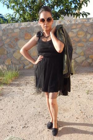 black Rodarte for Target dress - olive green Charlotte Russe jacket