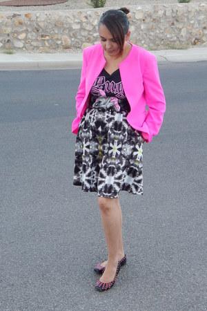 black Target t-shirt - hot pink Agaci jacket - charcoal gray Target skirt