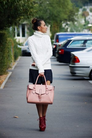 Orsay bag - Jeffrey Campbell boots - H&M blazer - Topshop skirt