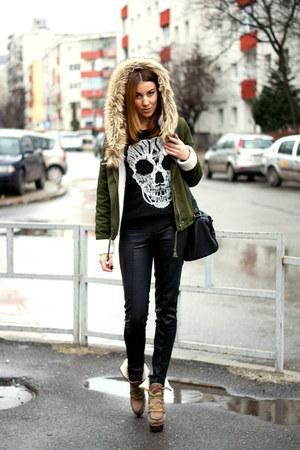 Sheinsidecom jacket - Zara pants - H&M blouse