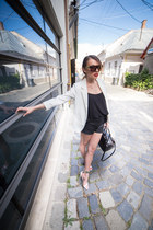Sheinside blazer - H&M shorts - romwe sunglasses - Stradivarius top