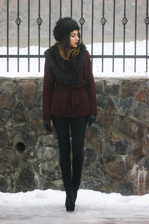 H&M coat - Jeffrey Campbell boots - Zara jeans