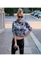 black Zara pants - H&M top - black Mango sneakers