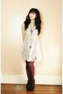 Heather-gray-dress-black-jeffrey-campbell-heels