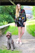 black Hardy Punglia jacket - black patent pvc mini Hardy Punglia skirt