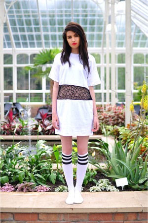 white American Apparel socks - white The Left bank by Hardy Punglia dress