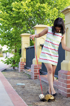 diy shift dress dress - black bow London Rebel flats