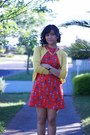 Ruby-red-made-it-myself-dress-mustard-cocolatte-cardigan