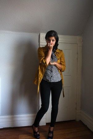 Forever 21 jacket - H&amp;M shirt - BDG pants - Fiori for Payless shoes