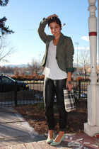 h&m via thrift blazer - Hanes top - vintage Ungaro via Ebay pants - thrifted in