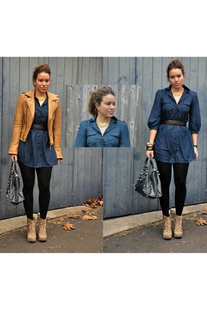 balenciaga jacket - balenciaga bag - Jeffrey Campbell shoes - asos dress