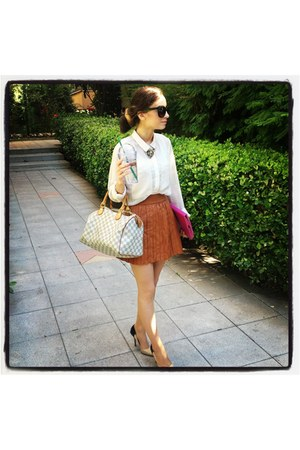Louis Vuitton bag - Marc by Marc Jacobs heels - Prada glasses
