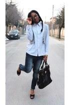black Blugirl & Blumarine bag - Zara jeans - black Pennyblack sandals
